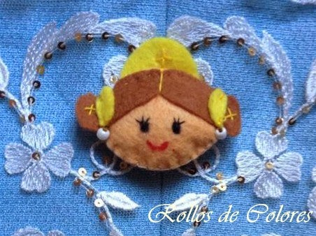 broches falleras fieltro