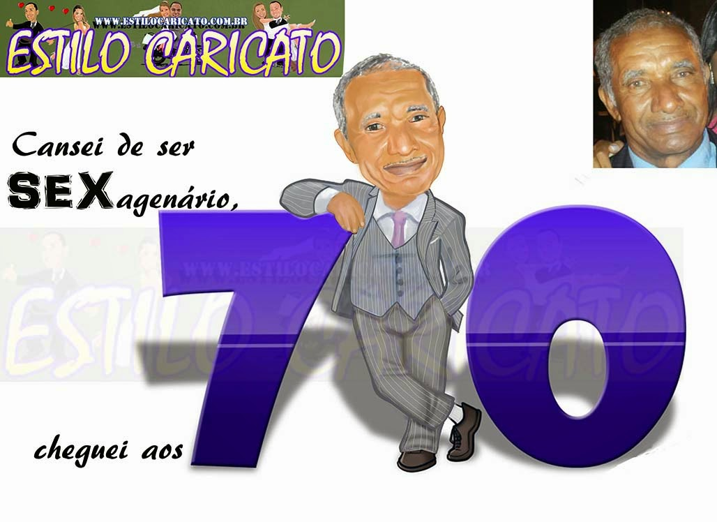 caricatura colorida do pai