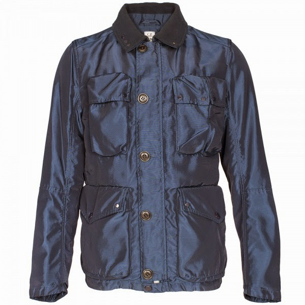 CP Company Garment Dyed Goggle Jacket Blue