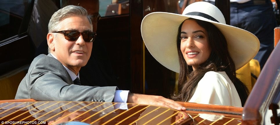 Amal Alamuddin wears a sophisticated Stella McCartney look for civil ceremony in Venice
