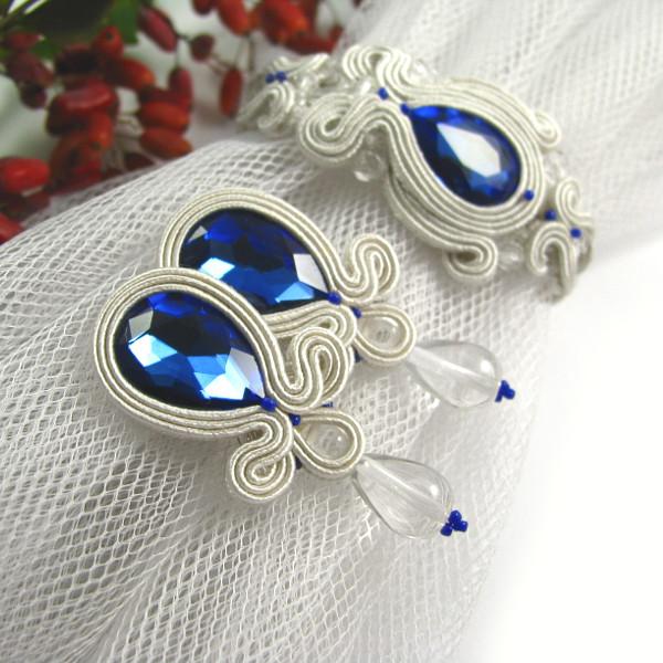 kobaltowa biżuteria ślubna