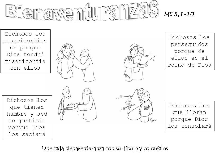 Dibujos para pintar de las Bienaventuranzas - Imagui