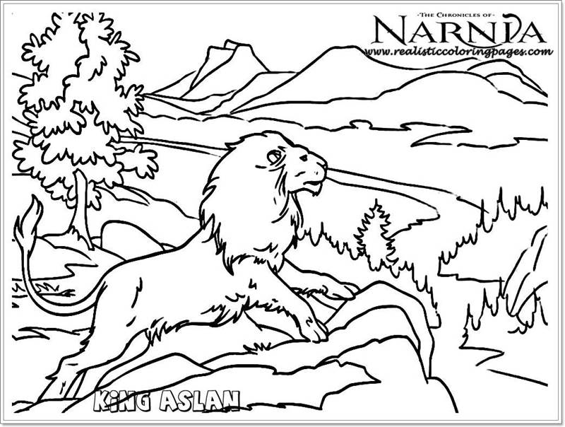 King Aslan Chronicles Of Narnia Coloring Pages  Realistic