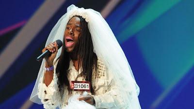 22-Year-olX Factor d cake decorator dressed in drag singing Lady Gaga