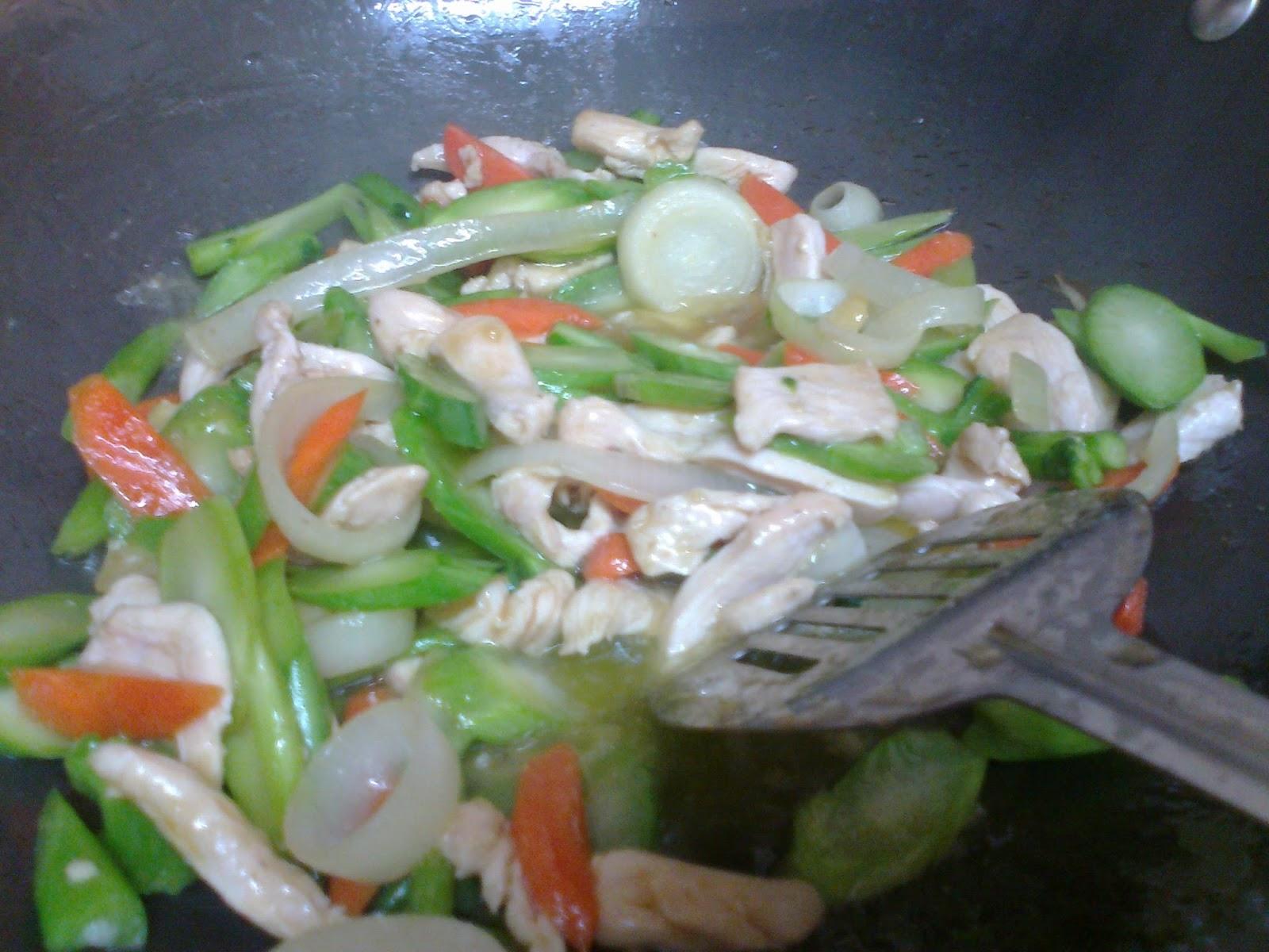 Laman Depan Dan Dapurku Resepi Mudah Kailan Tumis Dgn Isi Ayam