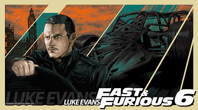 Luke Evans as shaw in fast & furious 6