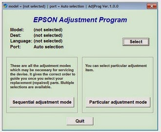 Download Resetter Epson L110 L210 L300 L350 L355