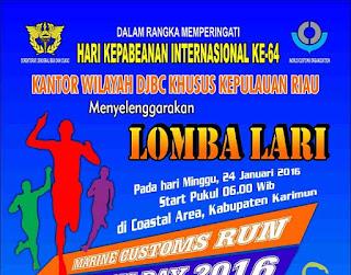 Marine Customs Run 2016 DJBC Riau, lomba lari Bea dan Cukai