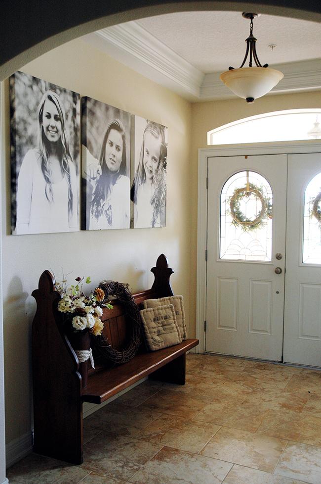 Foyer Entry Art : Pen paper flowers home entryway photo art