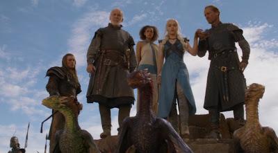 Daenerys dragones y sus hombres - Juego de Tronos en los siete reinos