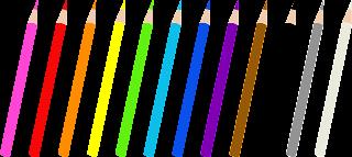 dibujo muy grande de lapices de colores