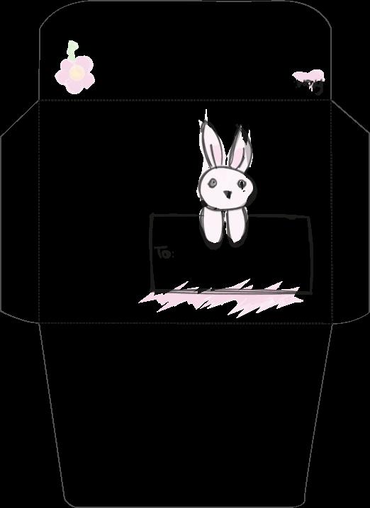 sobre conejo color