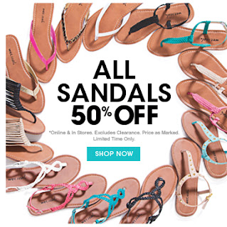 wet seal sandals 50 percent off sale