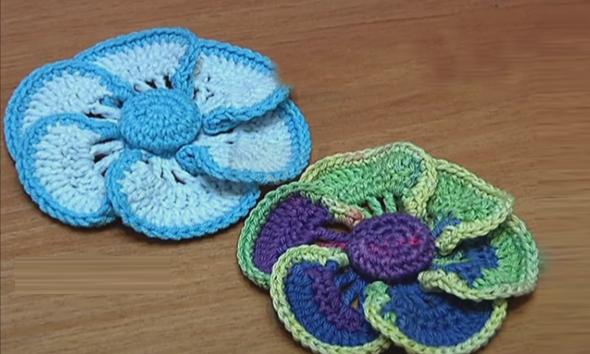 crochet-tutorials: Crochet Flower Crochet Button Center ...