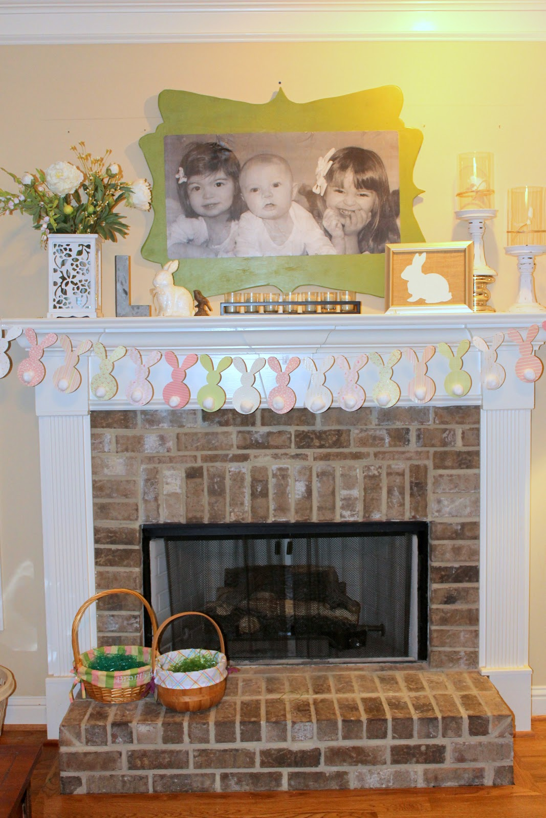 Easter Decorating Mantel Ideas   Easter Mantel