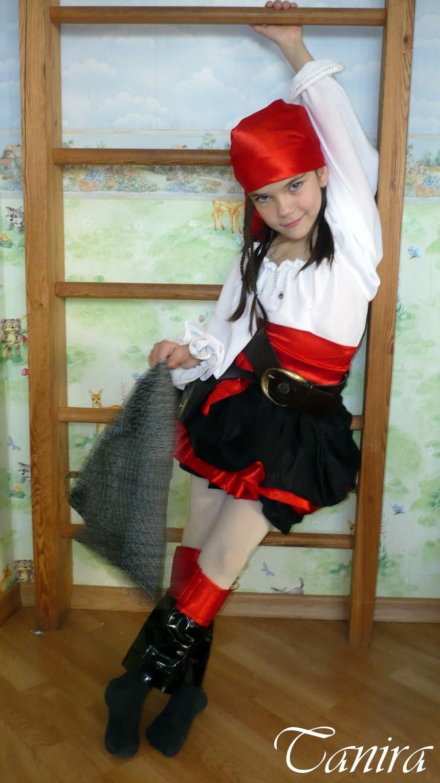 Костюм девочка пиратка своими руками фото