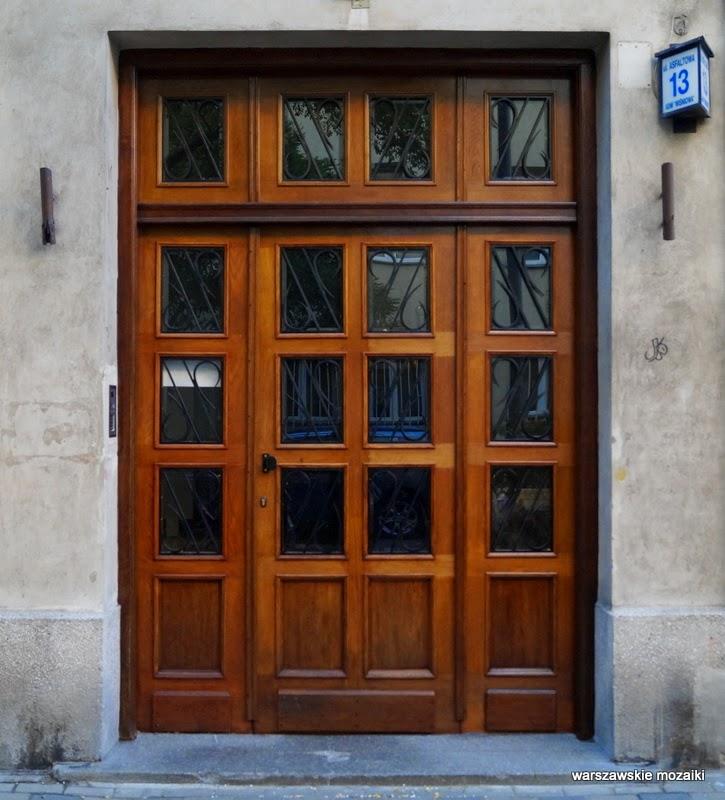 drzwi Warszawa Stary Mokotów kamienica kamienice ulica zabytek lata 30 Sigalin Gelbard Wierzbicki brama