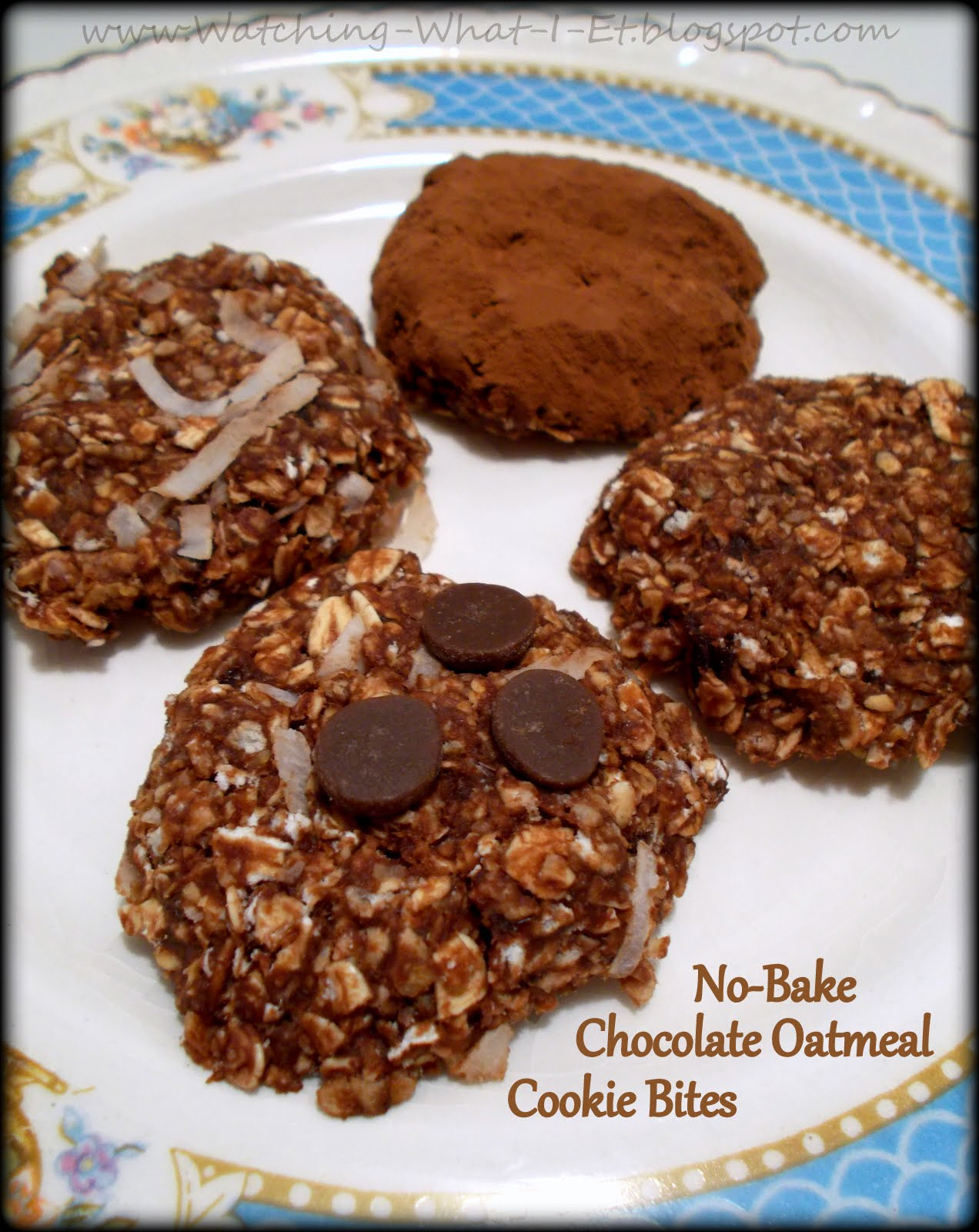 What I Eat: Clean Eating No-Bake Chocolate Oatmeal Cookie Bites