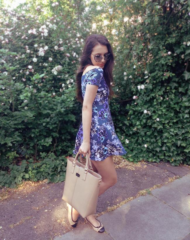 Motel Rocks Catalina off shoulder dress  fashion blogger