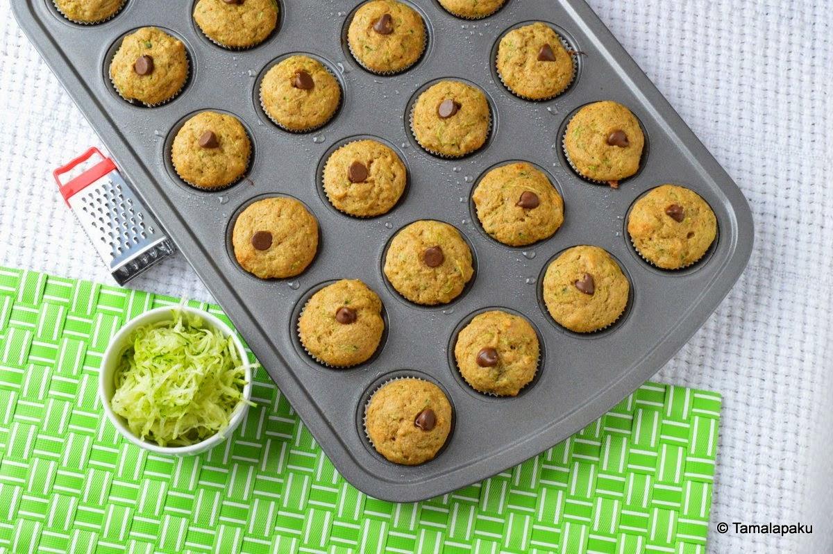 Eggless Zucchini Muffins