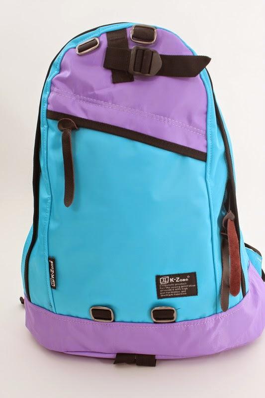 2015 全新K-Zone (kzone bag) 防水絹撞色背囊背包 5