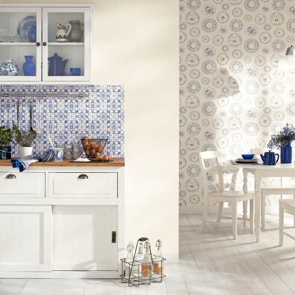 Papel pintado papel pintado cavaillon cocinas - Azulejos vinilicos ...