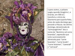 origem mascara carnaval