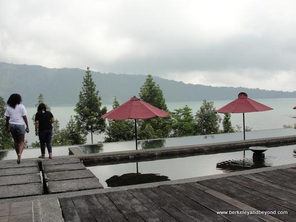 view of Lake Bratan at Puri Candikuning in Bali