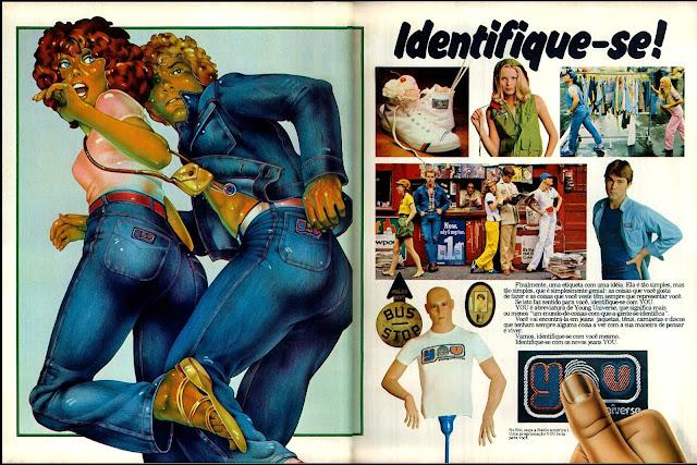 propaganda  Jeans You - 1977. Propaganda década de 70.