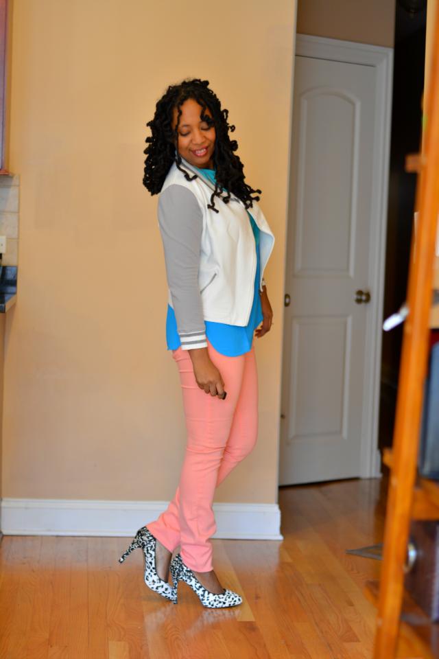 wearing spring pastels