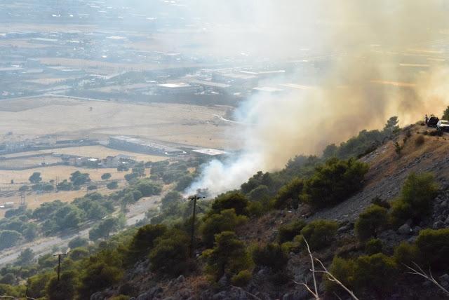 Φωτορεπορτάζ για τη φωτιά και από τις υδροδεξαμενές.(βίντεο)