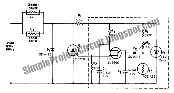 simple project circuit  low cost precision light control
