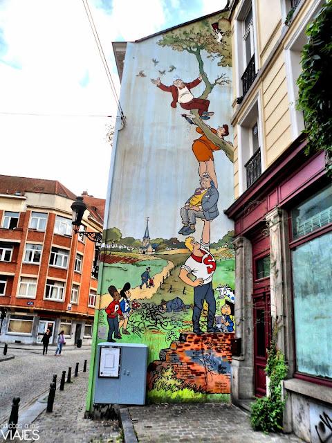 Mural de la Ruta del Cómic de Bruselas