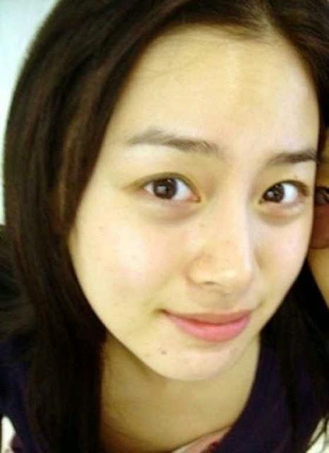 Foto Kim Tae Hee tanpa make up
