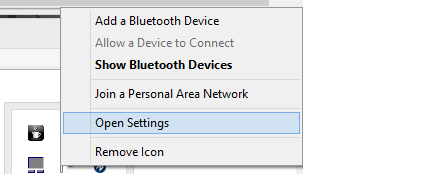 Allow Bluetooth devices to find your computer