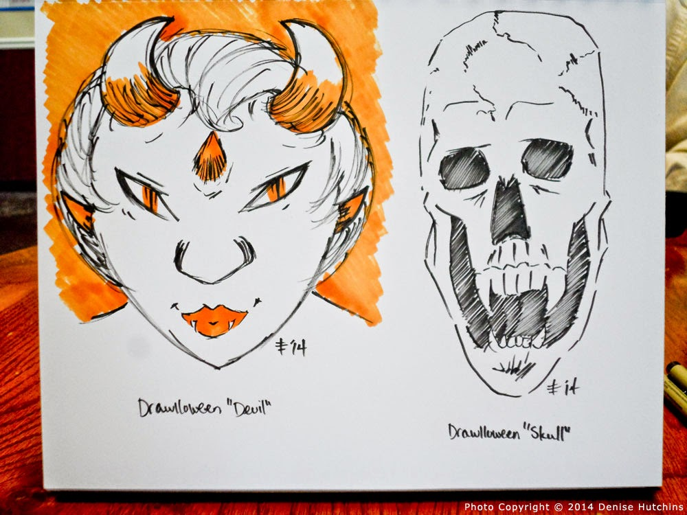 Devil and Skull Drawings