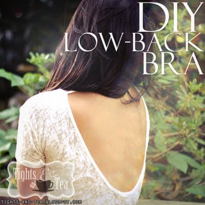 DIY low back bra tutorial tights and tea tightsandtea