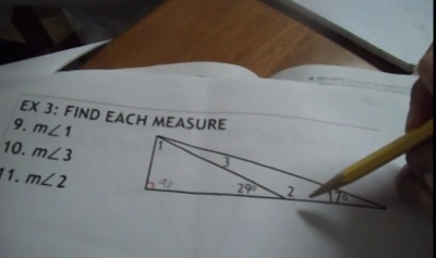 angles of triangles, angle measures, geometry