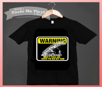 Warning avoid injury bucket truck Shirt