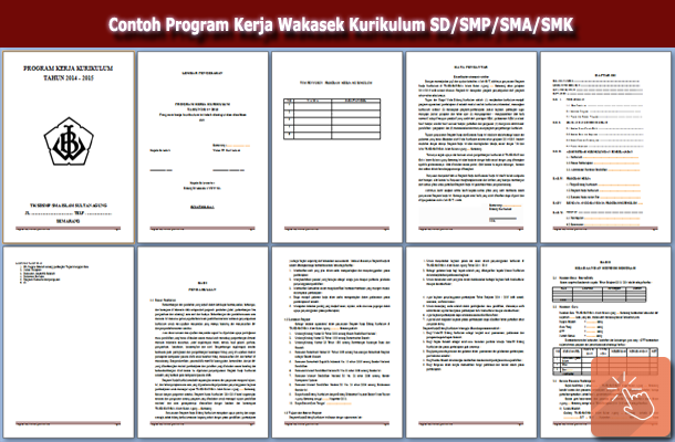 Contoh Program Kerja Wakasek Kurikulum SD/SMP/SMA/SMK