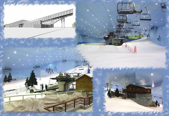 Строительство лыжного спуска в Испании