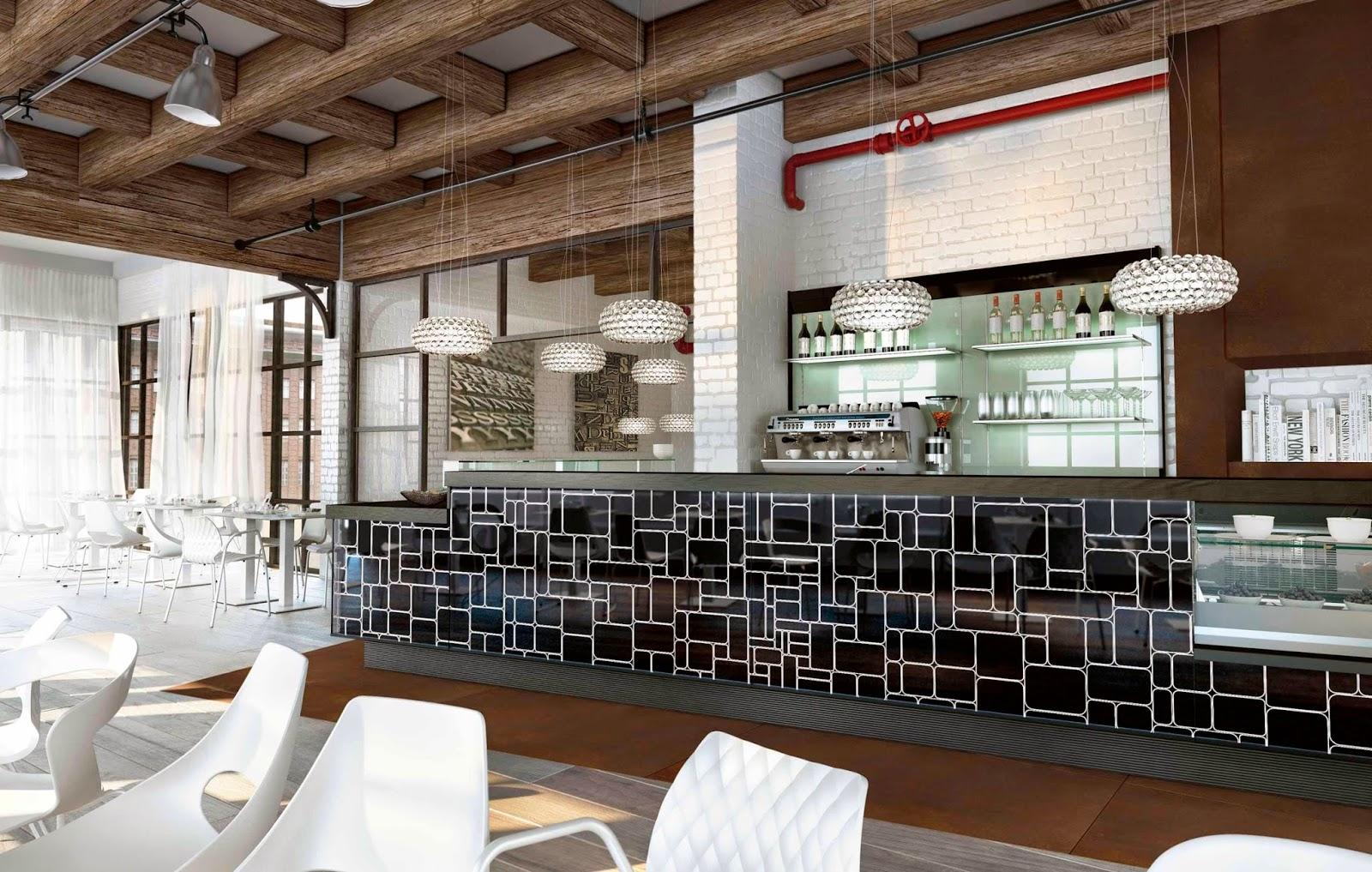 Illuminazione Tavoli Ristorante : Banco bar con illuminazione a led rgb degart arredamento