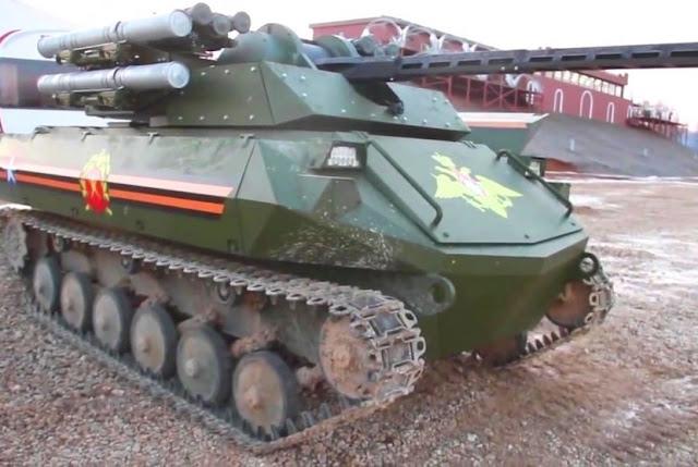 Rusia gunakan Tank Uran-9 untuk lawan robot Bom buatan ISIS