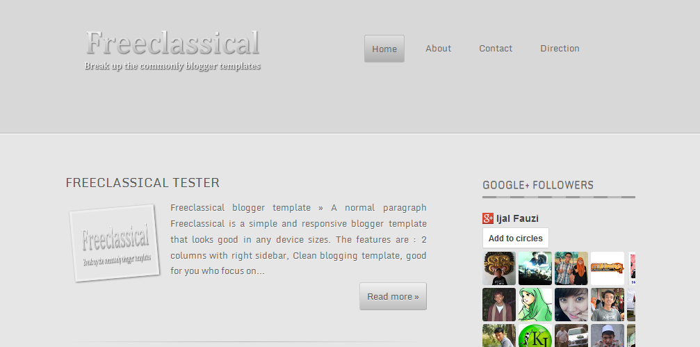 Freeclassical F1 Blogger Template