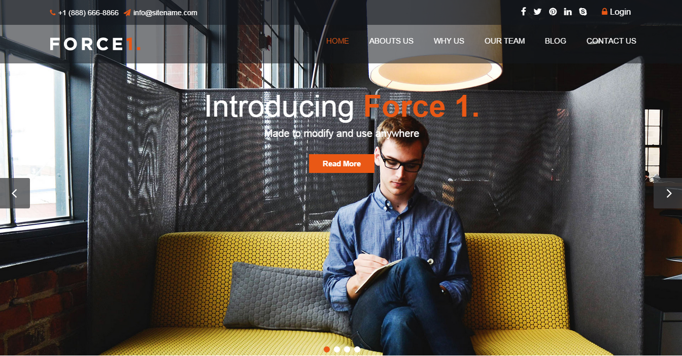 Force1 Joomla Template