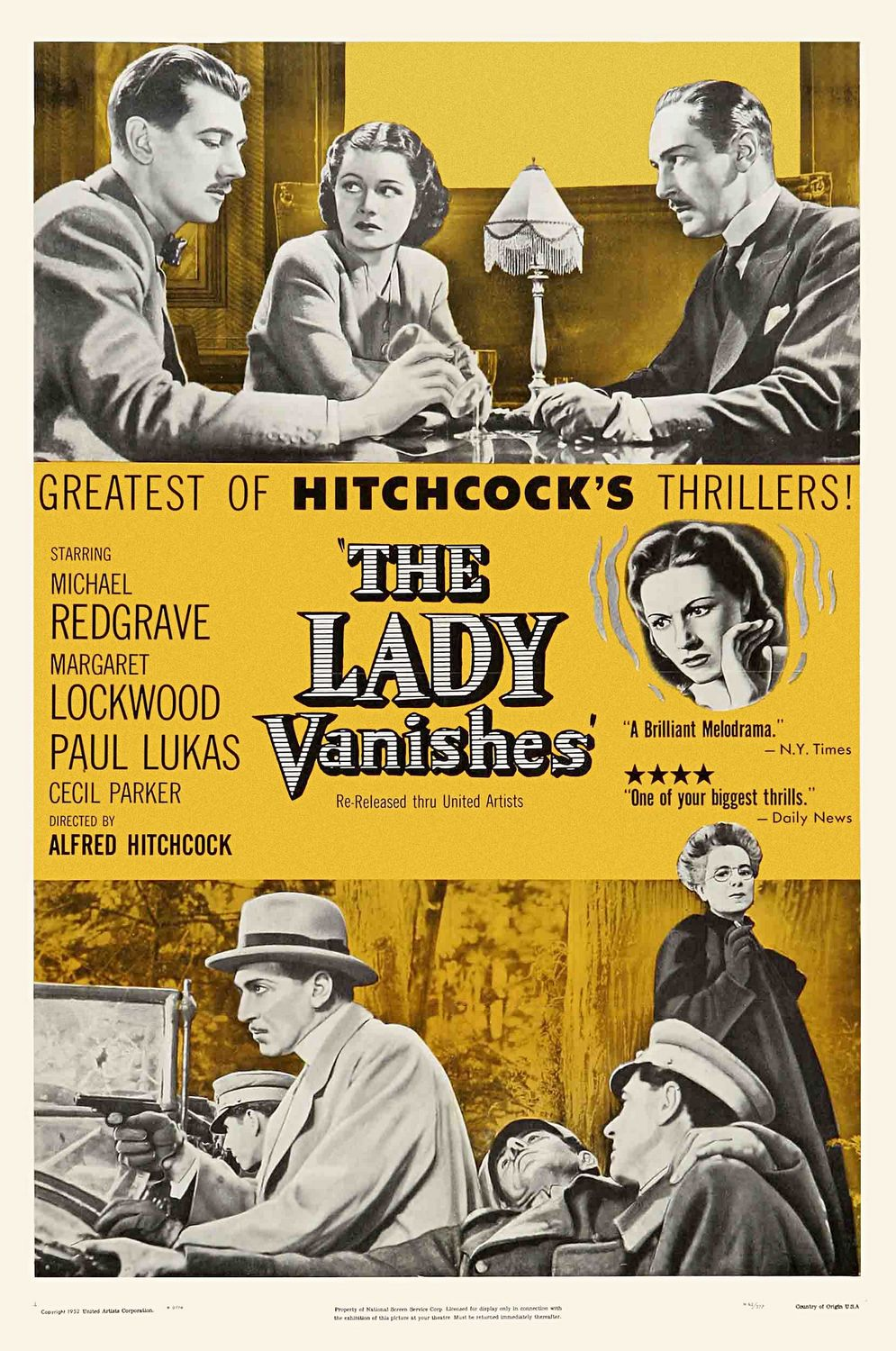 Film Poster Of The Lady Vanishes