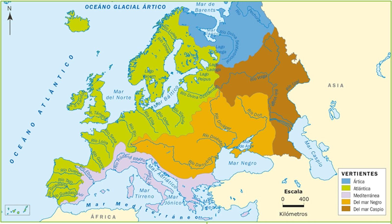 Me gustan las Sociales EUROPA Mapa fsico