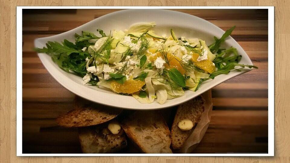 Zucchini-Fenchel-Salat