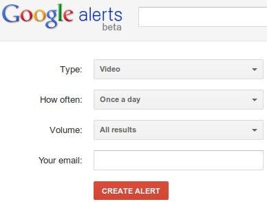 Google Alerts e-mail