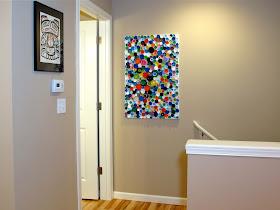 DIY bottle cap mosaic